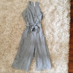 Other - Blue and White Stripe Jumpsuit
